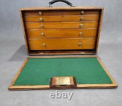 Vintage 5 Drawer Tool Makers Cabinet