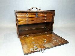 Vintage 6 Drawer Tool Makers Cabinet