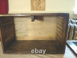 Vintage CQR Engineers 5 Oak Drawer / Cabinet Tool Box