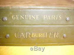 Vintage Collectible Genuine Parts Carburetor Service Tool Cabinet 2 Drawer Box