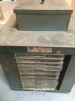 Vintage ENOX Rotating Engineer's Steel Cabinet with Drawers 30cmx30cmx30cm