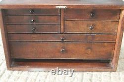 Vintage Emir Engineers 7 Drawers Toolmakers Chest Toolbox Cabinet Tool Box