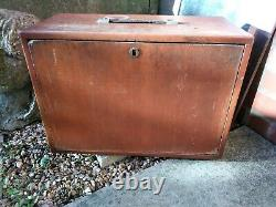 Vintage Engineers 8 Drawer Wooden Tool Chest Tool Box Cabinet