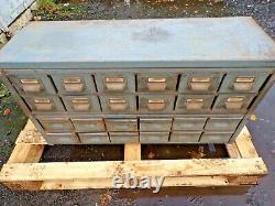 Vintage Industrial Engineers Cabinet 24 Drawer