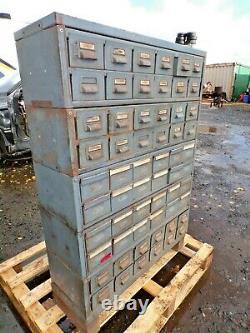 Vintage Industrial Engineers Cabinet 60 Drawer