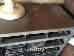 Vintage Industrial Metal Drawers Engineers Cabinet Tool Unit Draws