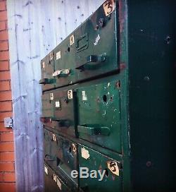 Vintage Industrial Metal Drawers Engineers Cabinet Tool Unit Draws Mancave