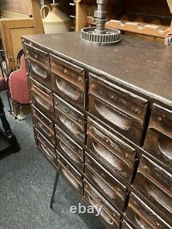 Vintage Industrial Steel 20 Drawer Engineers Cabinet Tool Storage