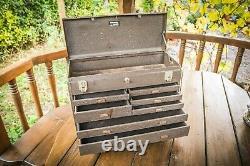 Vintage Kennedy 7 Drawer Engineers Tool Box Metal Cabinet Rare
