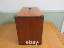 Vintage Moore & Wright 7 Drawer Wooden Engineers Tool Cabinet Tool Chest