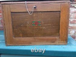 Vintage NESLEIN 8 Drawer Engineers Toolmaker Wooden Tool Cabinet Chest Tool Box