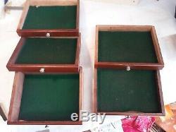 Vintage Neslein toolmakers engineer cabinet chest 7 drawer hinged top keys VGC