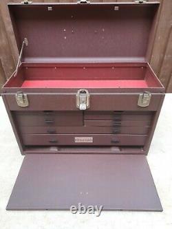 Vintage Starrett 7 Drawer Engineers Toolmakers Metal Tool Chest Box Cabinet