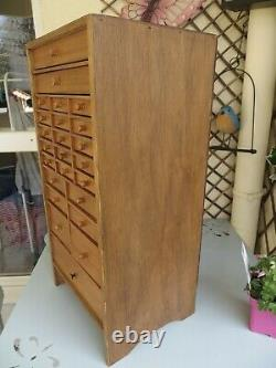 Vintage Watchmakers Cabinet, Collectors Drawers, Engineers Tool Box / Chest