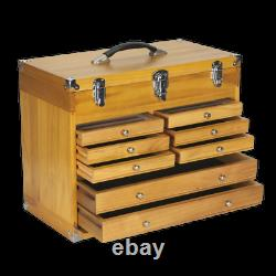 Wood Tool Box Chest 8 Drawer Heavy Duty Storage Machinist Cabinet Sealey AP1608W