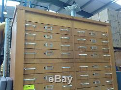 Wooden 38 drawer multi filing cabinet, cupboard. Arts, school, paper, tools storage