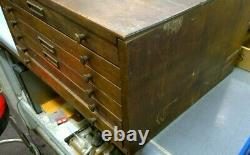Wooden 6-Drawer Parts Cabinet with Built in Sorting Trays Watchmaker Tool
