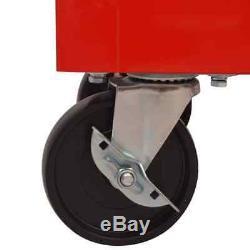 Workshop Tool Trolley 10 Lockable Drawers Swivel Castor Steel Storage Garage Red