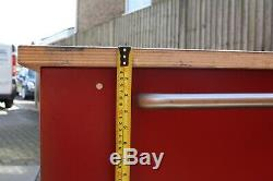 Workshop Tool Trolley 4 Drawers Toolbox Cabinet Size 1100mm x 700 Steel Red