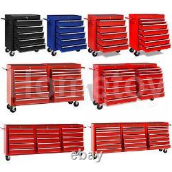 Workshop Tool Trolley Garage Storage Box Cabinet Chest 5/7/10/14/15/21 Drawers