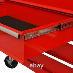 XXL Workshop Storage Trolley 10 Drawer Tool Box Cabinet Service Cart Tool Chest