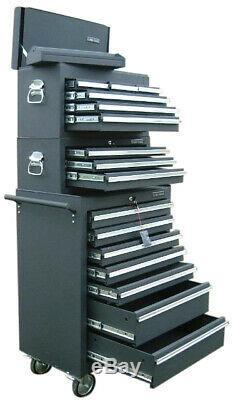 03 Us Pro Tools Outil Noir Tiroir En Acier Coffret Rouleau Coffre Box Équilibreuses
