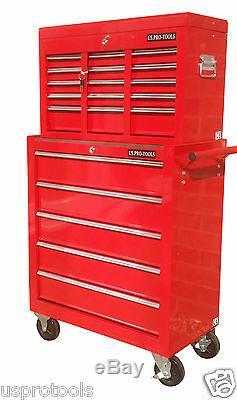 254 Nous Pro Tools Red 14 Roulement À Billes Tiroirs Coffre À Outils Boîte À Rouleaux Cabinet