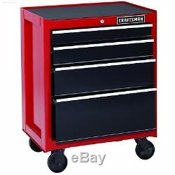 26 Roulant Cabinet 4 Tiroirs Outil Robuste Coffre Garage Travail Artisan Red