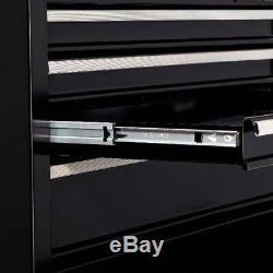 26w 4 Tiroirs Roulement À Billes Coffre Boîte À Outils Avec Rolling Cabinet Verrouillage Mécanique