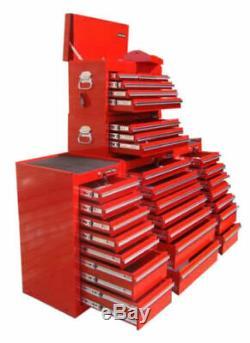 27 Us Pro Tools Red Tiroirs Coffre À Outils Boîte! Servante Côté Équilibreuses