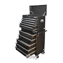337 Nous Pro Outils Mechanics Boîte À Outils Chest 14 Tiroirs À Roulement À Billes Cabinet À Rouleaux