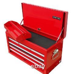 33 Us Pro Tools Acier Rouge Poids Lourd Single Top Tool Box Armoire Poitrine 6 Tiroirs