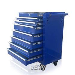 374 Us Pro Blue Tools Coffre À Outils En Acier Abordable, Armoire À Roulettes 7 Tiroirs