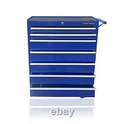374 Us Pro Blue Tools Tool De Coffre À Poitrine En Acier Abordable Cabinet À Rouleau 7 Tiroirs