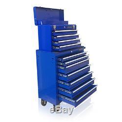 375 Us Pro Blue Tools Coffre À Outils En Acier Abordable, Armoire À Roulettes 11 Tiroirs
