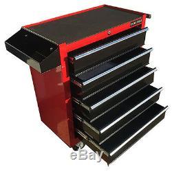 376 Nous Pro Rouge Outils Noir Abordable Coffre Boîte À Outils Rouleau Cabinet 5 Tiroirs