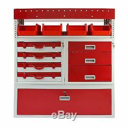 3 X Van Racks Métal Rayonnage & Van Tiroirs Rayonnages Red Steel Système Outil