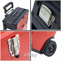 3-in-1 Outil Chariot Box Set 4 Tiroirs Boîtes De Rangement Armoire Portable Roue En Acier