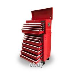 423 Boîte À Outils Roller Armoire En Acier Chest 13 Tiroirs Gloss Red Us Outils Pro