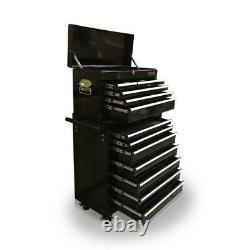 425 Boîte À Outils Roller Armoire En Acier Chest 13 Tiroirs Gloss Black Us Pro Outils