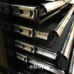 428 Coffre En Acier Pour Armoire À Roulettes, 16 Tiroirs, Brillant, Noir Us Pro Tools