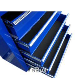 451 Us Pro Tools Mechanics - Armoire À Roulettes En Acier, Coffre À 8 Tiroirs, Bleu