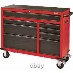 46 In. 8-drawer Roller Cabinet Tool Chest In Red/black Textured, Système De Verrouillage