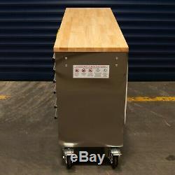 55 10 Tiroirs Travail En Acier Inoxydable Banc Boîte À Outils Coffre Cabinet 0111-0120