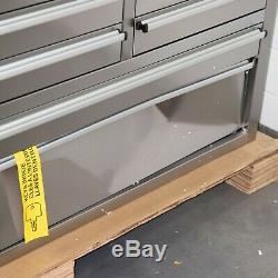 55 10 Tiroirs Travail En Acier Inoxydable Banc Boîte À Outils Coffre Cabinet 5182-5189
