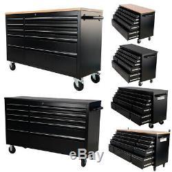 55 / 72inch Outil Cabinet Panier Atelier Tiroirs Chariot Grand Coffre En Bois Workbench