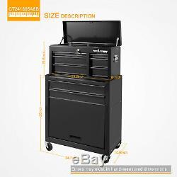 5 Outils Tiroirs Box 24 Garage Outils Mechanic Cabinet De Stockage En Acier Avec Serrure
