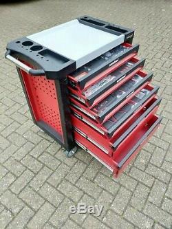 6 Tiroirs Outil Chariot Cabinet 245 Outils Atelier Coffre De Rangement Porte Toolbox