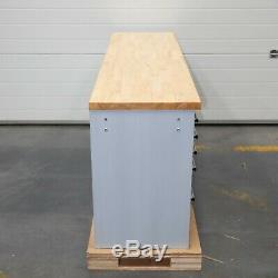 72 En Acier Inoxydable 15 Tiroirs Travail Banc Boîte À Outils Coffre Cabinet 4939-4946