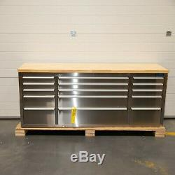 72 En Acier Inoxydable 15 Tiroirs Travail Banc Boîte À Outils Coffre Cabinet 5065-5070